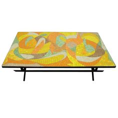 I'm in love with this George Nelson mosaic coffee table, circa 1950's.