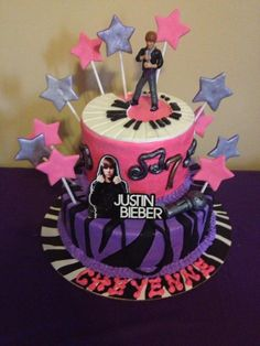 Justin Bieber Cake for my granddaughter's 7th birthday.