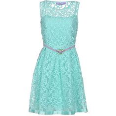 22 Maggio By Maria Grazia Severi Short Dress ($285) ❤ liked on Polyvore featuring dresses, light green, short blue dresses, embroidered mini dress, zipper dress, blue slip dress and blue sleeveless dress