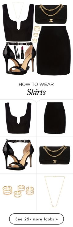 """Untitled #3977"" by natalyasidunova on Polyvore featuring Thierry Mugler, MICHAEL Michael Kors, Chanel, Wanderlust + Co and Smashbox"