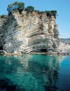 The Seal Cave (Fokotrypa) at Kastos Island, Greece