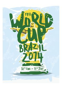 FIFA World Cup 2014 Print by KieranCarrollDesign