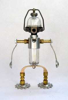Tillotston - Robot assemblage sculpture by Brian Marshall | Flickr - Photo Sharing!