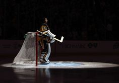 PITTSBURGH, PA - OCTOBER 17: Marc-Andre Fleury #29 of the Pittsburgh Penguins stands during the playing of the national anthem before the game at PPG Paints Arena on October 17, 2016 in Pittsburgh, Pennsylvania. (Photo by Gregory Shamus/Getty Images)