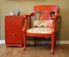 Refurbished Furniture Love the color and the fabric. Would be cute for lounge/seating area