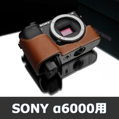 Gariz Genuine Leather Camera Metal Half Case for Sony Alpha Brown Fuji Camera, Camera Nikon, Camera Case, Vegetable Leather, Sony A6000, Photo Bag, Coolpix, Camera Accessories, Leather Case