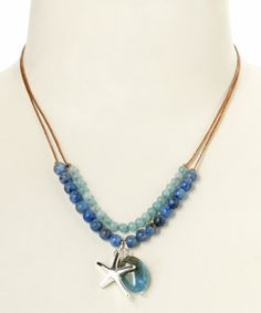 Look what I found on #zulily! Blue & Silver Starfish Pendant Necklace by Elly Preston Jewelry #zulilyfinds