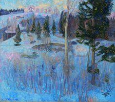 Thorvald Erichsen (Norwegian, 1868-1939), Aftenstemning, Vestre Gausdal [Evening, Western Gausdal], 1908. Oil on canvas, 103 x 117cm. Lille...