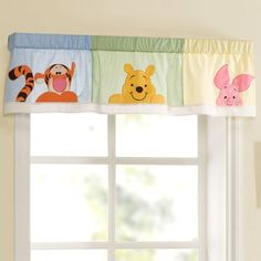 Put the finishing touch on your little hunny's nursery with our #DisneyBaby #PeekingPooh valance.