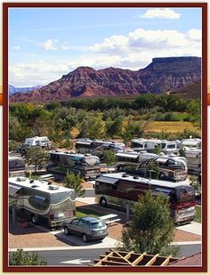 Just 13 miles from the south entrance to Zion National Park, the Zion River Resort is popular with tourists. This RV resort has full hook-ups, concrete parking pads, grills and free Wi-Fi. After exploring the red sandstone cliffs at Utah's first national park, you can also use this campground as a base for day-trips to explore Bryce Canyon National Park and the north rim of the Grand Canyon.