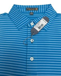 9b04141a3 M31 PETER MILLAR E4 PERFORMANCE SUMMER COMFORT POLO GOLF SHIRT MEN'S BLUE M  #fashion #clothing #shoes #accessories #mensclothing #activewear (ebay link)