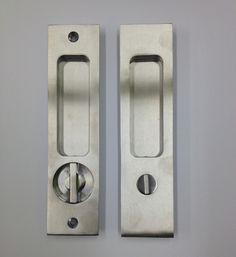 "Linnea PL-160S Square Privacy Door Lock - Straight turn piece - 1 3/8"" Door Thickness - Satin Stainless Steel $157.25"