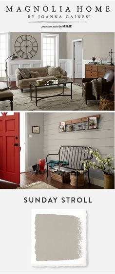 If you're looking for an interior design trend that will last, check out the chic greige hue of Sunday Stroll from the Magnolia Home by Joanna Gaines™ Paint collection. This modern paint color can be used in a neutral color scheme for a soft and elegant design. You can even pair it with a bold pop of color to create a custom look that fits your style.