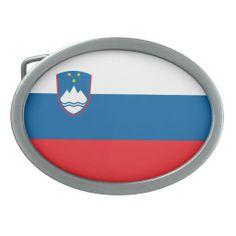 Slovenian flag Belt Buckle