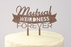 Mutual Weirdness Forever // Timber Wedding by BespokeCountryWed                                                                                                                                                                                 More