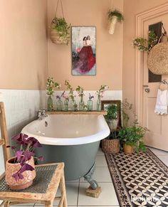 Bohemian Home Decor Design and Ideas - Bohemian Bedroom Decor - # Bö . - Bohemian Home Decor Design and Ideas – Bohemian Bedroom Decor – # Bohemian - Boho Bathroom, Bathroom Design Small, Bathroom Designs, Bathroom Ideas, Bathroom Colors, Bathroom Beadboard, Lavender Bathroom, Colorful Bathroom, Restroom Ideas