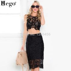 HEGO 2015 Women New Hot Two Sets Fashion Summer Dess With Free Shipping CG938 New Model, Two Piece Skirt Set, Hot, Skirts, Summer, Stuff To Buy, Free Shipping, Dresses, Women