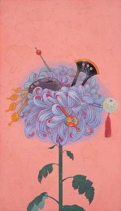 "Fuco Ueda ""Kioku No Hana (Flower of Memory)"" @ Thinkspace Gallery, Culver City: Fragment of Oil Painting Abstract, Painting & Drawing, Japanese Artists, Asian Art, Love Art, Art Inspo, New Art, Art Drawings, Illustration Art"