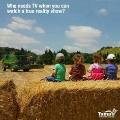 Who needs TV when you can watch a true reality show. When I have kids this will be them. Farm kids are the best kind. Country Strong, Country Farm, Country Girls, Country Living, Farm Quotes, Country Quotes, Life Quotes, Way Of Life, Life Is Good