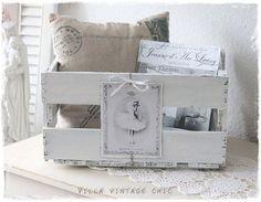 ~ romantische Weinkiste ~ Romantik pur ... von Villa-Vintage-Chic auf DaWanda.com