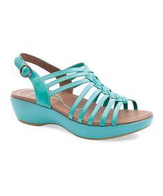 Look what I found on #zulily! Turquoise Dana Leather Sandal - Women by Dansko #zulilyfinds