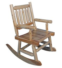 Red Shed Rustic Stained Log Rocker Tractor Supply