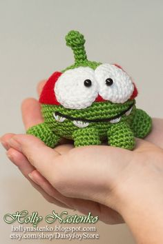 Crochet Om Nom Ninja from Cut The Rope by DaisyJoyStore on Etsy