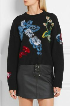 ANTHONY VACCARELLO embroidered sweater