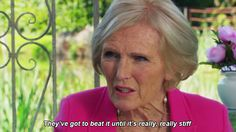 """To her baking tips. 
