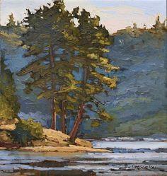 "Jan Schmuckal - 12""x 12"" - Original Oil - The Lake House Collection - Lake Arrowhead"