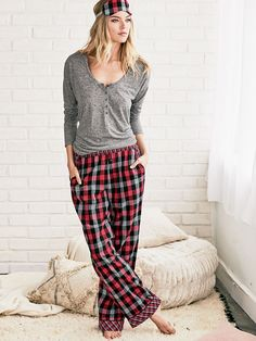 The Dreamer Henley Pajama - The Dreamer Flannel Collection - Victoria's Secret