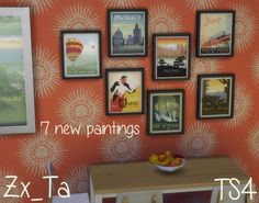 The Sims 4 | Simlish art from Anderson Design Group | buy mode deco paintings new objects