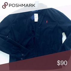 Classic Polo Ralph Lauren jacket Polo Ralph Lauren landon jacket. Black with red logo on left chest. 2 button cuff and waist adjustment. 100% cotton shell. A must have staple that can easily be dressed up or down. You can't go wrong with this jacket. Polo by Ralph Lauren Jackets & Coats Lightweight & Shirt Jackets