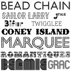 fonts by TinyCarmen