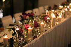 Head Table Love main table wedding reception masses of candles and flowers . . . . . Brides Gown: @miasolano Groom Suit: @danielhechterau MUA: @becdonechy Hair: @amandagorej Celebrant: @beccelebrant Photo: @sydneyweddingdreamlife Cake: @cakeartaustralia Ceremony: @Illawarra Rhododendron Gardens Reception: @harbourfrontrestaurant Styling  Flowers: @dbj_events