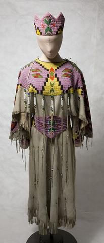 Beaded by Spokane Ella McCarty for her daughter Darlene. This dress is in the Northwest Museum of Arts and Culture, Spokane, WA. Ella taught me to bead, and gave me my first design for my Dress in 1969.