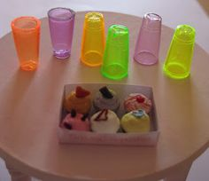 Dollhouse glasses from tips of pens - existing idea but new suggestions | Source: Make It Small