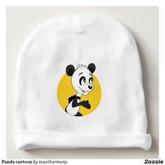Panda cartoon baby beanie