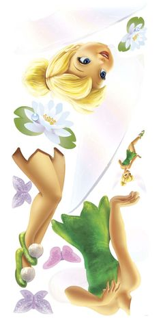 Tinkerbell Vector | Tinkerbell Wall Sticker Posters And Decals Set Wallpaper Pictures