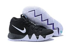 Men Nike Kyrie 4 Core Black White Discount Nikes ae85db47e6