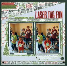 Christmas Day Laser Tag Fun - Teresa Collins - Christmas Home Collection My Scrapbook, Scrapbooking, Teresa Collins, Magic S, Christmas Home, Layouts, Merry, Joy, Memories