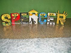 LEGO Ninjago Character Letter Art by GunnersNook on Etsy, $12.00