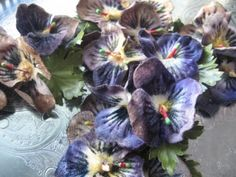 luscious vintage pansies ...all i could create!!