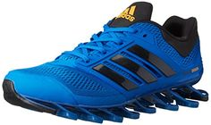 adidas Performance Mens Springblade Drive M Running Shoe Blue BeautyBlackNeon Orange 12 M US -- For more information, visit image link.