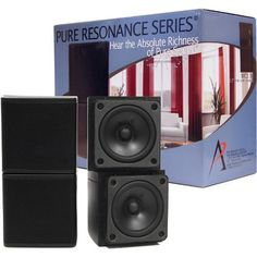Pure Resonance Audio MC2.5B Mini Cube Speakers 2.5 Inch Swivel Surround Sound Wide SoundStage Priced Per Pair by Pure Resonance Audio. $119.99. Pure Resonance Audio MC2.5B speakers deliver large sound from a small package. They are easily installed in almost any location to enhance the sound of your home, home theater, office, and store in seconds. The Pure Resonance MC2.5B Mini Cube dual-pivoting speaker arrays feature revolutionary cube speaker technology to create a...