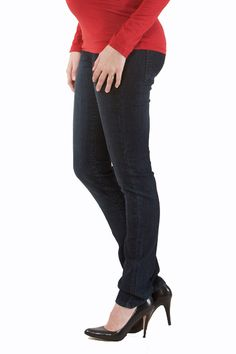 Emilia Super Skinny Darkwash Jeans by Seraphine | Maternity Clothes    available at www.duematernity.com
