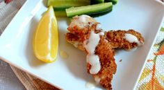 Almond Crusted Chicken Tenders with Honey-Lemon Dipping Sauce