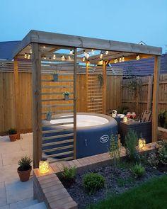 Hot Tub Pergola, Hot Tub Backyard, Hot Tub Garden, Jacuzzi Outdoor, Small Backyard Patio, Hot Tub Deck, Backyard Ideas, Whirlpool Pergola, Hot Tub Surround