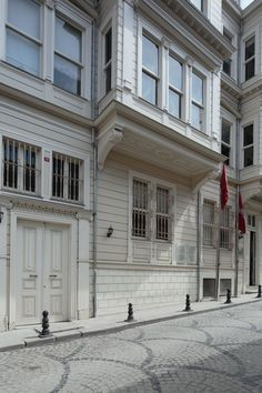timber facade houses in Istanbul Image for sale