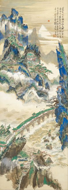 Tomita Keisen -Mt.Penglai (Mountain of Immortals) -
